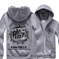 Erkek Hoodies Tişörtü Unisex Anime Kantai Koleksiyonu Shimakaze Hoodie Ceket Hırka