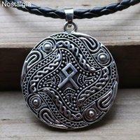 Pendant Necklaces Nostalgia Viking Rune Othala Necklace Amulet Talisman Gothic Jewlery