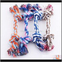Home & Garden Drop Delivery 2021 17Cm Dog Toys Supplies Pet Cat Puppy Cotton Weaved Chews Knot Toy Durable Braided Bone Rope Funny Tool 550 S