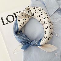 2020 Beautiful Print Luxury Bag Strap Scarf Women Silk Scarf Fashion Head Scarf Headwear Square Scarves Bag Accessories Ribbon