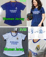 21 22 Real Madrid Mulheres Futebol Jerseys Camavinga Benzema Kroos Camiseta 2021 2022 Asensio Valverde Maillot Hazard Modric Rodrygo Alaba Feminino Menina Futebol Camisas