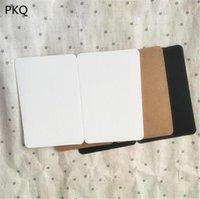 Tebrik Kartları 50 adet 7.5 * 10 cm / 10 * 15 cm 2 Boyutlar Boş Kart Kraft Kağıt Kartpostal Katlanır Tipi İş Davetiyesi Not