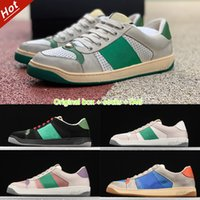Hommes Femmes Series Series Sangle Sneakers Sneakers Toile Ace Casual Chaussures Vert Rouge Roue Loisirs Loisirs Robe Italie Chaussure en cuir sale taille 35-44