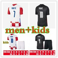 UOMINI + KIT KIT KIT MODRIC Soccer Jersey 21 22 Mandzukic Home Away Orsic Perisic Rakitic Srna Kovacic Brozovic Rebic Adult Football Camicie per adulti