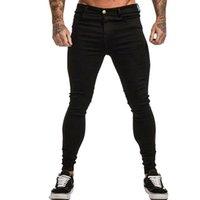 Men's Jeans Mens Style Skinny Men Black Casual Streetwear Jogger Pants High Street Slim Fit Man Denim Trousers