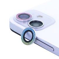 Kamera Lens Koruyucu iphone 12/12 Mini, Elmas Glitter Yüzük Kapak Daire Anti-Scratch Temperli Cam Kadın 2020
