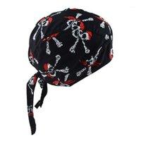 دراجة نارية السائق للجنسين الجمجمة كاب قبعة الهيب هوب الرقص فراشة طباعة باندانا قبعة خوذة بطانة رئيس التفاف تعديل القراصنة scarf1