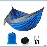 Möbel Haus Garden44 Farben 106 * 55 zoll Outdoor Parachute Hängematte Faltbare Camping Swing Hängende Bett Nylon Tuch Hängematten mit Seilen ca