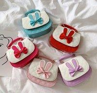 Fashion rabbit children shoulder handbag cute girls princess bags kids coin purse