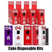 Cake Delta 8 Kit de démarreur jetable E Dispositif de cigarettes Full Gram Capacité de 1 ml Capacité vide Pod rechargetable Pen 280mAh Batterie pour huile épaisse vs bar plus max