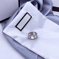G письмо переплетение рисунка кольцо стерлингового серебра 925 стерлингового серебра старые резные грубые кружева простые и универсальные моды ювелирные изделия
