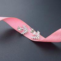 Stud S925 Sterling Silver Fashion Style Pearl Earrings Zircon Personality Trend Fresh Jewelry