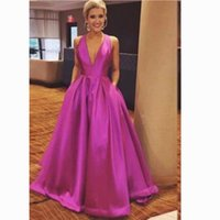 2021Rose Red Cute Prom Dresses A-Line Criss Cross Traps Party Dresses Floor-Length V-Neck Bow Evening Gowns