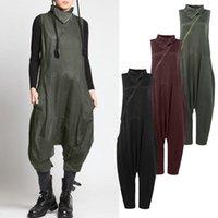Women's Jumpsuits & Rompers Fashion Asymmetrical Zip Overalls Summer 2021 ZANZEA Drop-crotch Harem Pants Playsuits Female Romper Plus Size