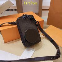 Unisex Tasarımcı Çikolata Telefon Çanta Lüks Erkek Mini Crossbody Tek Omuz Kamera Değişim Çanta Moda Dikdörtgen Cüzdan Çiçekler Mektuplar L21042101