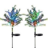 Lampade da pratola lampade solare a forma di albero a forma di albero multicolor esterno lampeggiante impermeabile lampada da pavimento decorazione del cortile