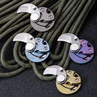 Mini Münze Titan Legierung Klappmesser Edelstahl Tasche Open Box Messer Outdoor Camping Schlüsselanhänger Anhänger Safety Taschen Dezent Werkzeug HW491