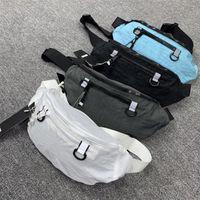 # 9358 Cintura saco homens moda esporte desenhador ao ar livre ombro 4 cores nylon bordado cintureira tech rua peito