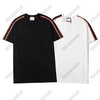 رجل شيرت المصممين قميص الملابس الفاخرة القمصان الأوروبي الشارع أزياء العلامة التجارية إلكتروني التطريز الرجال النساء نفس t-shirt جودة عالية tee001