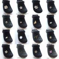 الأحذية الملحقات المعادن كريستال ندفة الثلج سحر مصمم jibz croc الاكسسوارات مستنقع الأحذية زر الديكور لطيف النحل سحر ل J0619