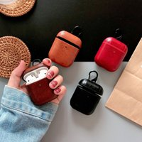 Protective Bag Leather Sleeve Cover Case Storage Earphone For Apple AirPods Pro 2 1 Charging Box Case For AirPods Pro With Hook