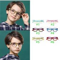 Boys Girls Silicone Sunglasses with Nose Pads Cute Transparent Sun Glasses Summer Fashion Children Anti-blue light Vintage Classic Kids Eyeglasses