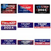 10pcs lot 3*9inch Trump 2024 U.S. General Election Car Bumper Flags Stickers House Window Laptop Decal Take America Back Keep America Great Sticker JY0788