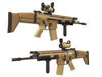 1: 1 مقياس fn ندبة قناص بندقية بندقية نموذج papercraft لعبة diy 3d ورقة ورقة نموذج العسكرية اللعب اليدوية لصبي هدية