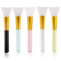 Makeup Brushes 1Pcs Professional Face Mask Brush Silicone Gel DIY Cosmetic Beauty Tools Wholesale Stirring Soft