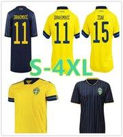 Швеция 2021 Национальный футбол Джерси Главная Ибрагимович Форсберг Каллстрем Футбольные рубашки CamiSetas