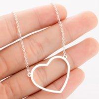 Liebe Herz Anhänger Halskette Frauen Edelstahl Halsketten Kette Muttertag Geburtstagsgeschenk Modeschmuck Wille und Sandy Silber Gold