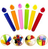 Ice Cream Tools DIY Silicone Frozen mould hand Old Popsicle Mold With Cover Kitchen Tool Food Grade Children Ices Pop Maker Molds wmq1057