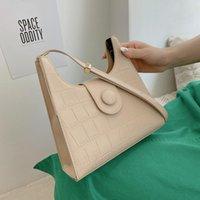 Evening Bags Dress Elegant Saddle Shoulder For Women 2021 Alligator Pattern Designer Handbags Quality Pu Leather Female Bag