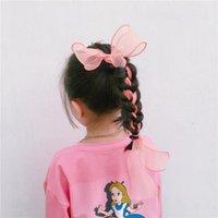 6 sztuk Nowa Wróżka Długa Przędza Bowknot Klips Do Włosów Dla Dzieci Bow Dziewczyna Akcesoria Hairpin Heatwear Drop Shipping 701 x2