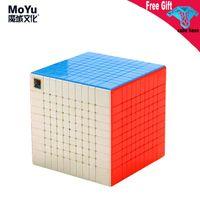 MOYU MOILONG 10 Layer Magic Cube Aufklebers Bubing Klassenzimmer 10x10 Speed Puzzle Pädagogische Spielzeug Kinderspiel Cubo Magico
