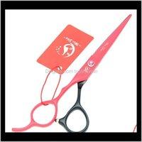 Уход за стайлинг Инструменты Продукты Drop Доставка 2021 6dot0inch Meisha Левша Резка Униженные ножницы Человеческие Ножницы для волос JP440C Redblack Ti