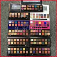 Multi Color Shadows 14 Kleuren Oogschaduw Palet Met Borstel Soft Mordern Stripe Rose Gold Eye Shadow Powder Palettes 11 stijlen