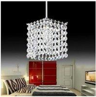 Modern simple iron crystal chandelier led lamp high quality LED lighting crystal chandeliers led E27 lustre pendant droplight