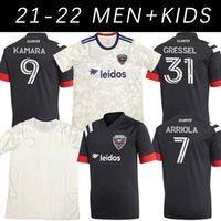 2021 블랙 홈 축구 유니폼 20 21 맞춤형 유니폼 워싱턴 DC 유나이티드 MLS 축구 셔츠 Wayne Rooney Ola Kamara Paul Arriola Asad Frederic T 셔츠
