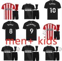 Yetişkin Setleri 2021 2022 Sheffield Futbol Formaları Mousset Birleşik 21 22 McBurnie Lundstram Fleckhome Uzakta Futbol Gömlek Norwood Keskin Erkekler Kids Kit Jersey