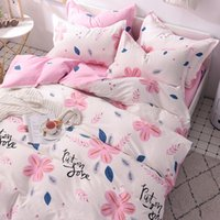 Ins Satin Printing All Piece Set of Small Fresh Student Four Seasons Bedding Pure Cotton Sheet Bed Bag