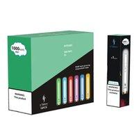 정통 E-TABOO RGB 조명 빛나는 일회용 전자 담배 장치 키트 1000 퍼프 3.5ml 포드 600mAh 배터리 12 색