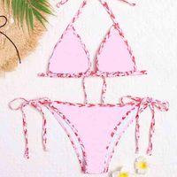 Costumi da bagno Abbigliamento Bikini con lettera Spalato Coulisse Retro Designer Designer Costume da bagno Brown Bianco nero rosa blu