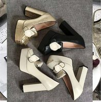 2021 дизайнерская мода женская формальная обувь супер высокий каблук водный стол кисточка металлическая кнопка логотип качество аутентичные роскошный элегантный 35-41