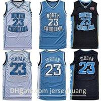 Homens NCAA Jerseys North Carolina Tar Heels 23 Michael Jersey Unc College Preto Branco Basquete Basquete