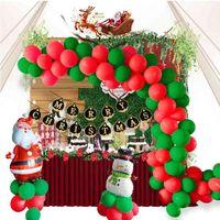 Ballon Hotelschule dekoriert 12-Zoll-Weihnachts-Latex-Flagge, die Ballonkettenanzug ziehen