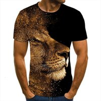 Tee 3d Summer Wolf Animal Mens T Shirt Printing Short Sleeve Blouse Male Funny Shirts Plus Size
