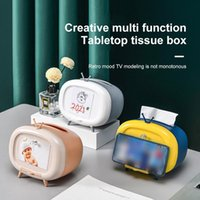 Tissue Boxes & Napkins Creative TV Box Home Simple And Cute Chase Drama Mobile Phone Storage Multifunctional Paper Pumping Organizer