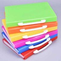 A4 확장 가능한 파일 구성 휴대용 아코디언 파일 폴더 Office 문서 서류 가방 봉투 뜨거운 컬러 주머니 확장 파일 폴더