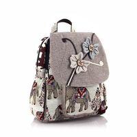 School Bags Cotton Linen Animal Handmade Children Bag Kids Travel Backpack Satchel Book Pouch Mochila Infantil Escolar For Girls